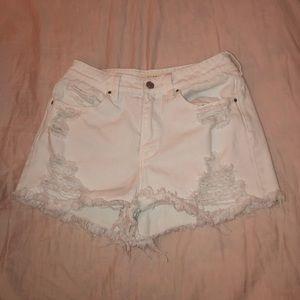 PacSun Shorts - Passim White Jean Shorts